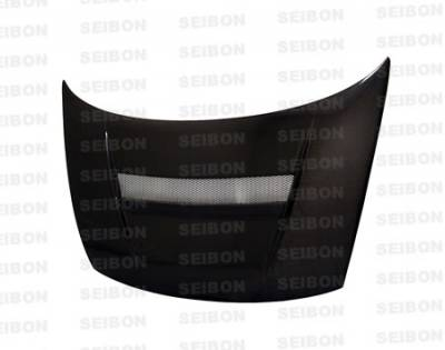 Seibon - Honda Civic 2DR Seibon VSII Style Carbon Fiber Hood - HD0607HDCV2D-VSII