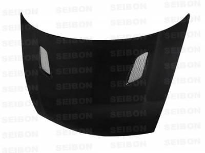 Seibon - Honda Civic Seibon MG Style Carbon Fiber Hood - HD0607HDCV4DJ-MG