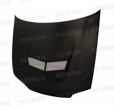 Seibon - Honda Civic 4DR Seibon VSII Style Carbon Fiber Hood - HD0607HDCV4DJ-VSII