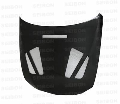 Seibon - BMW 3 Series 4DR Seibon ER Style Carbon Fiber Hood - HD0708BMWE922D-ER