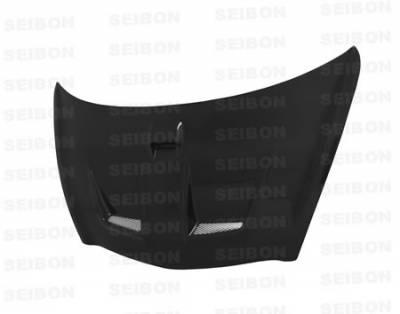 Seibon - Honda Fit Seibon MG Style Carbon Fiber Hood - HD0708HDFIT-MG