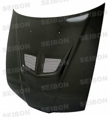 Seibon - Honda Fit Seibon VSII Style Carbon Fiber Hood - HD0708HDFIT-VSII
