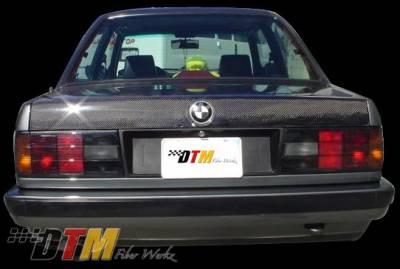 DTM Fiberwerkz - BMW 3 Series DTM Fiberwerkz OEM Style Trunk- CFRP - E30-OEM-STYL