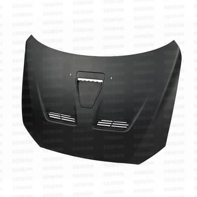 Seibon - Mitsubishi Lancer Seibon OEM Style Dry Carbon Fiber Hood - HD0809MITEVOX-OE-DRY