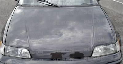 Seibon - Honda Civic HB Seibon OEM Style Carbon Fiber Hood - HD8891HDCRX-OE