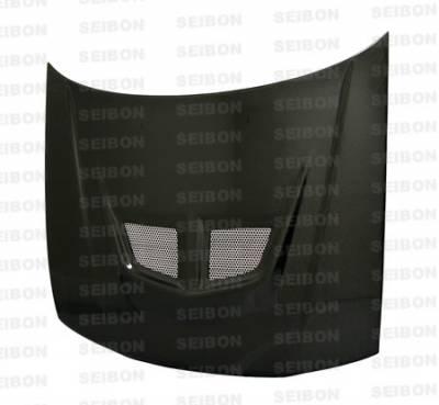 Seibon - Honda Accord Seibon EVO Style Carbon Fiber Hood - HD9093HDAC-EVO