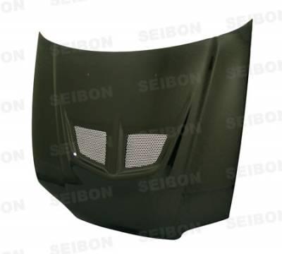 Seibon - Honda Civic 2DR Seibon EVO Style Carbon Fiber Hood - HD9295HDCV2D-EVO