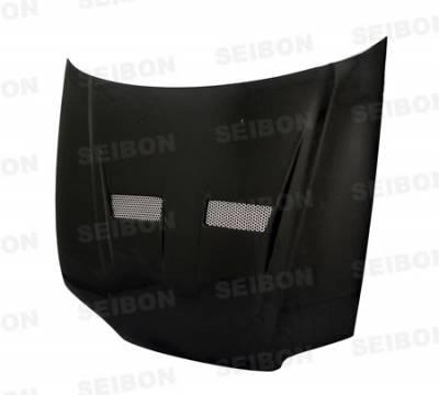 Seibon - Honda Civic 2DR Seibon VSII Style Carbon Fiber Hood - HD9295HDCV2D-VSII