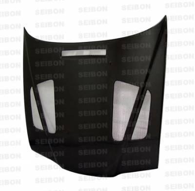 Seibon - BMW 3 Series 4DR Seibon ER Style Carbon Fiber Hood - HD9298BMWE364D-ER