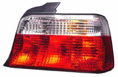 In Pro Carwear - BMW 3 Series 4DR IPCW Taillights - Crystal Eyes - Crystal Diamond Red & Clear - 1 Pair - 203002C