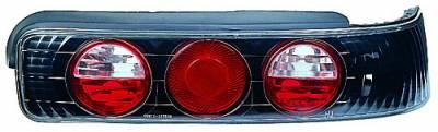 In Pro Carwear - Acura Integra 2DR IPCW Taillights - Crystal Eyes - Bermuda Black - 1 Pair - CWT-106B2