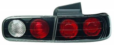 In Pro Carwear - Acura Integra 4DR IPCW Taillights - Crystal Eyes - Bermuda Black - 4PC - CWT-108B2