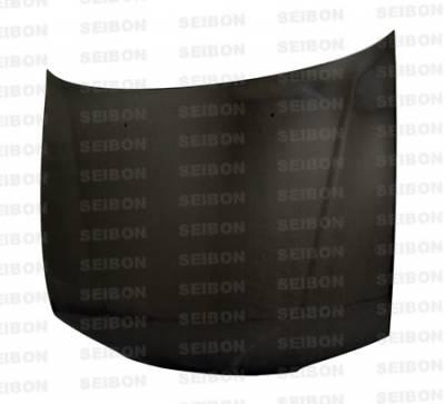 Seibon - Honda Accord Seibon OEM Style Carbon Fiber Hood - HD9497HDAC-OE