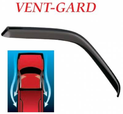 GT Styling - Honda Civic 2DR GT Styling Vent-Gard Side Window Deflector