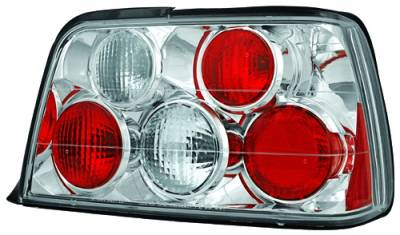 In Pro Carwear - BMW 3 Series 4DR IPCW Taillights - Crystal Eyes - Crystal Clear - 1 Pair - CWT-202C2