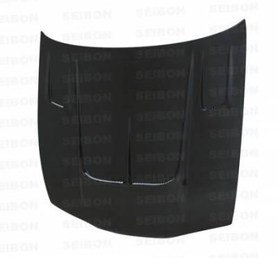 Seibon - Nissan 240SX Seibon TT Style Carbon Fiber Hood - HD9596NS240-TT