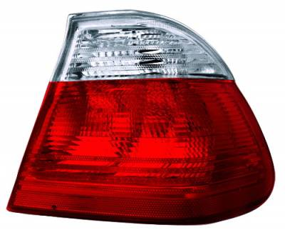 In Pro Carwear - BMW 3 Series 4DR IPCW Taillights - Crystal Eyes - Red & Clear - 2PC - CWT-207R2