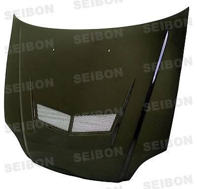 Seibon - Honda Civic Seibon VSII Style Carbon Fiber Hood - HD9698HDCV-VSII