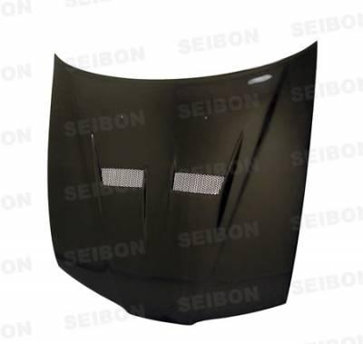 Seibon - Honda Prelude Seibon VSII Style Carbon Fiber Hood - HD9701HDPR-VSII