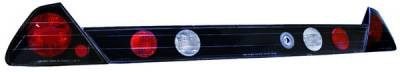 In Pro Carwear - Honda Accord 2DR IPCW Taillights - Crystal Eyes with Garnish - 3PC - CWT-712BB3