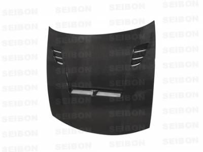 Seibon - Nissan 240SX Seibon TA Style Carbon Fiber Hood - HD9798NS240-TA