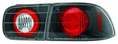 In Pro Carwear - Honda Civic 2DR & 4DR IPCW Taillights - Crystal Eyes - 4PC - CWT-727C3B