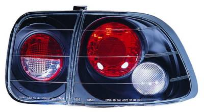 In Pro Carwear - Honda Civic 4DR IPCW Taillights - Crystal Eyes - 3PC - CWT-732B2