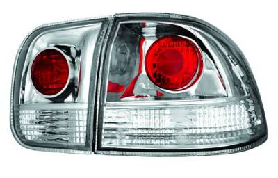 In Pro Carwear - Honda Civic 4DR IPCW Taillights - Crystal Eyes - 1PC - CWT-732C