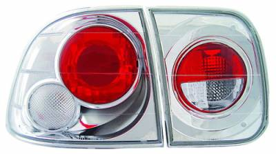 In Pro Carwear - Honda Civic 4DR IPCW Taillights - Crystal Eyes - 1PC - CWT-732C2