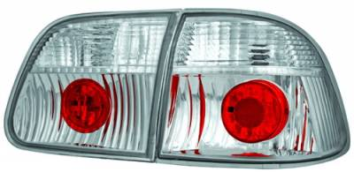 In Pro Carwear - Honda Civic 4DR IPCW Taillights - Crystal Eyes - 1PC - CWT-733C2