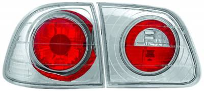 In Pro Carwear - Honda Civic 4DR IPCW Taillights - Crystal Eyes - 1PC - CWT-733C4