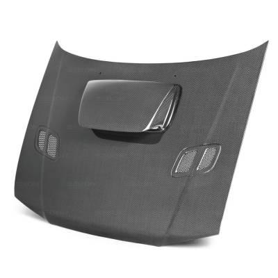 Seibon - Subaru Impreza Seibon OEM Style Carbon Fiber Hood - HD9801SBIMP-OE
