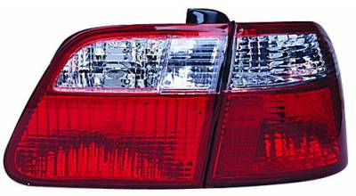 In Pro Carwear - Honda Civic 4DR IPCW Taillights - Crystal Eyes - 1PC - CWT-733R4