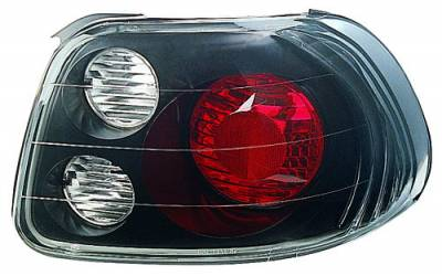 In Pro Carwear - Honda Del Sol IPCW Taillights - Crystal Eyes - 1 Pair - CWT-740B2