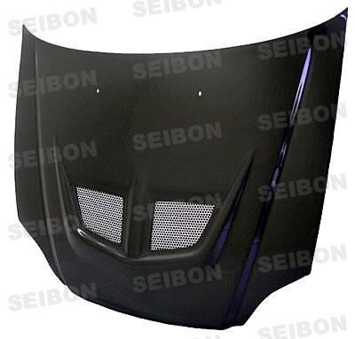 Seibon - Honda Civic Seibon EVO Style Carbon Fiber Hood - HD9900HDCV-EVO