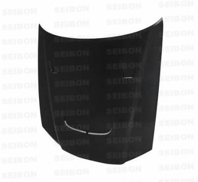 Seibon - Nissan Skyline Seibon JU Style Carbon Fiber Hood - HD9901NSR34-JU