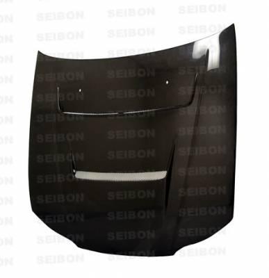Seibon - Nissan Silvia Seibon DV Style Carbon Fiber Hood - HD9901NSS15-DV