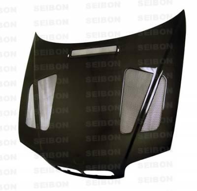 Seibon - BMW 3 Series 4DR Seibon ER Style Carbon Fiber Hood - HD9902BMWE464D-ER