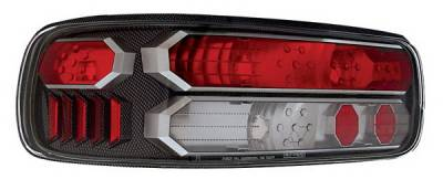 In Pro Carwear - Chevrolet Caprice IPCW Taillights - Crystal Eyes - Black Trim - 1 Pair - CWT-CE316CF