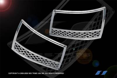 SES Trim - Chevrolet Tahoe SES Trim ABS Chrome Headlight Trim - HL102