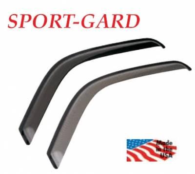 GT Styling - GMC Yukon GT Styling Sport-Gard Side Window Deflector - Carbon Fiber - 4PC - 48640X