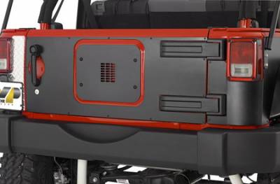 Warrior - Jeep Wrangler Warrior Tailgate Cover - Outer - No Holes