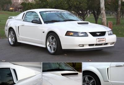 Xenon - Ford Mustang Xenon Quarter Window Scoop - Urethane - Left & Right - 12710