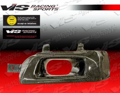 VIS Racing - Mitsubishi Lancer VIS Racing Custom Carbon Fiber Headlight Scoops - 03MTEV84DCUS-HLS