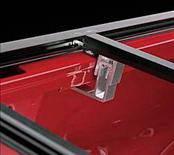 Lund - Dodge Ram Lund Genesis Snap Tonneau - Black Leather Look