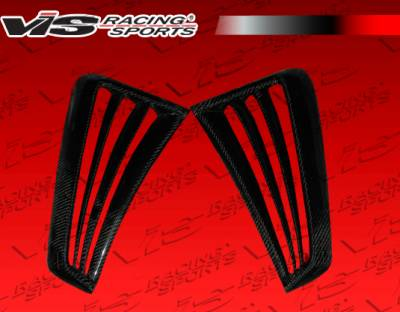 VIS Racing - Ford Mustang VIS Racing Stalker-2 Side Scoop - Carbon Fiber - 99FDMUS2DSTK2-019C