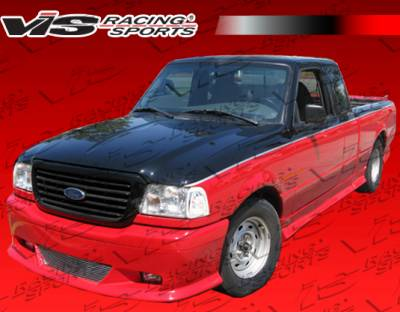 VIS Racing - Ford Ranger VIS Racing W-Type Complete Body Kit with Roll Pan - 7PC - 490186