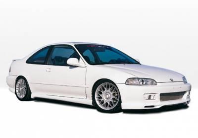 VIS Racing - Honda Civic 2DR VIS Racing Racing Series Complete Body Kit - 4PC - 890073