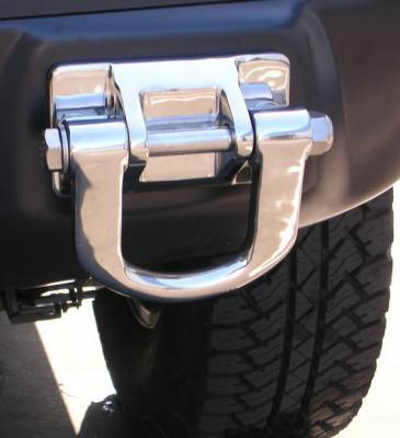 Aries - Hummer H2 Aries Tow Hooks with Base - Stainless Steel - Set of 3