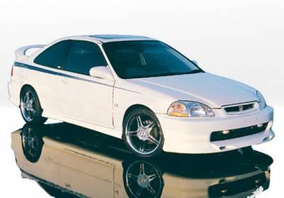VIS Racing - Honda Civic 4DR VIS Racing Racing Series Body Kit - 4PC - 890159